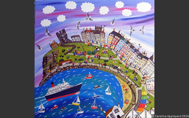 Little Boats & The QE2 (Scarborough)